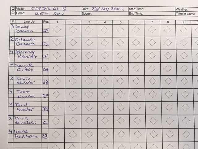 strat o matic beisbol hoja de anotacion las reglas