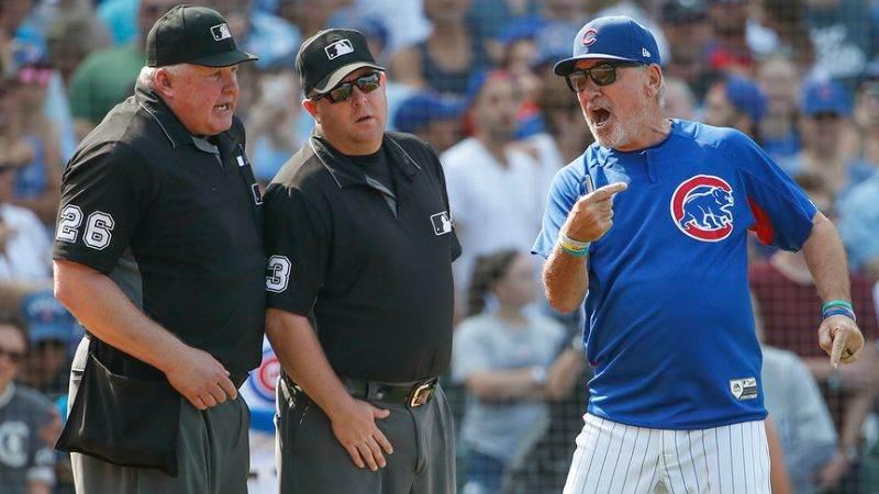 Arbitraje Electrónico en la MLB beisbol mlb beisbolmlb Joe Maddon, en plena protesta a los árbitros (Fuente: Yahoo Sports)