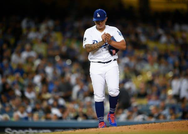 Julio Urías Dodgers Kelvin Kuo/Associated Press los angeles dodgers mayo 2019 beisbol mlb beisbolmlb