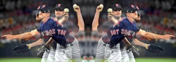 Chris Sale lanzando para los Boston Red Sox
