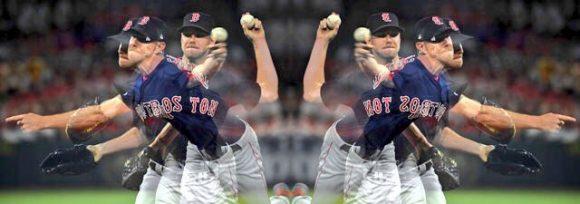 Chris Sale lanzando para los Boston Red Sox