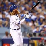 nlcs game 2 brewers los dodgers mlb Justin turner