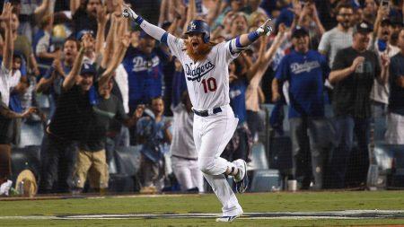 justin turner Series de Campeonato Liga Nacional: Los Ángeles Dodgers en las Series Mundiales 29 años después.