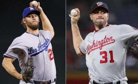 Clayton Kershaw y Max Scherzer, dos auténticos fuera de serie sobre la lomita (Foto: Dailynews.com)