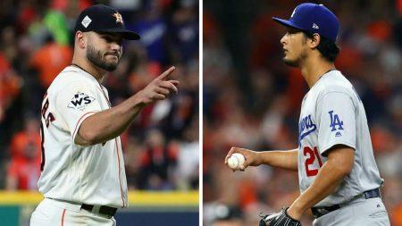 lance mccullers yu darvish mlb Los Houston Astros campeones de las Series Mundiales 2017