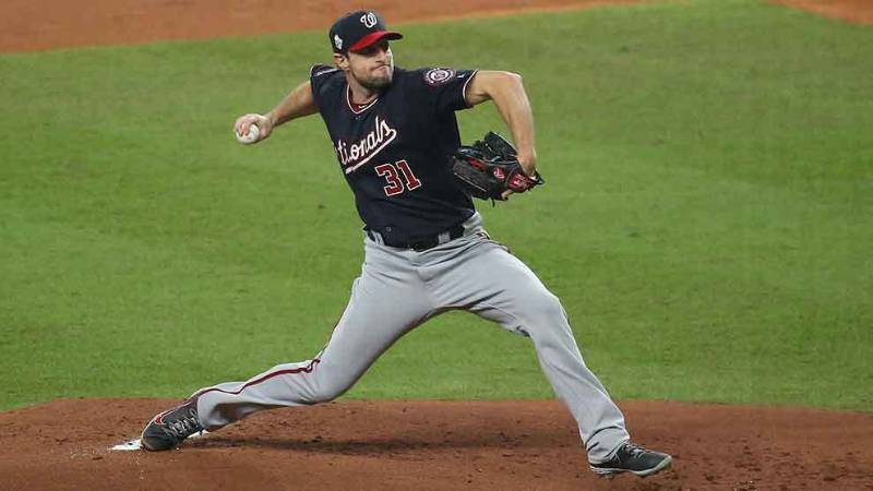 max scherzer washington nationals 2020 beisbol mlb