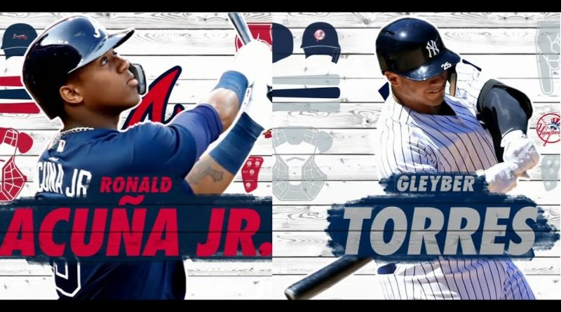 """Acuña - Torres. Una generación de grandes expectativas Ronald Acuña Jr. y Gleyber Torres, las nuevas promesas venezolanas en MLB. Imagen de ESPN.com programa """"2 En Base"""