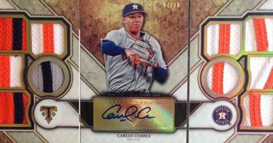 Correa Topps Triple Threads 2017 Cromos de béisbol. Estabilización y actualidad: 2006 - 2017