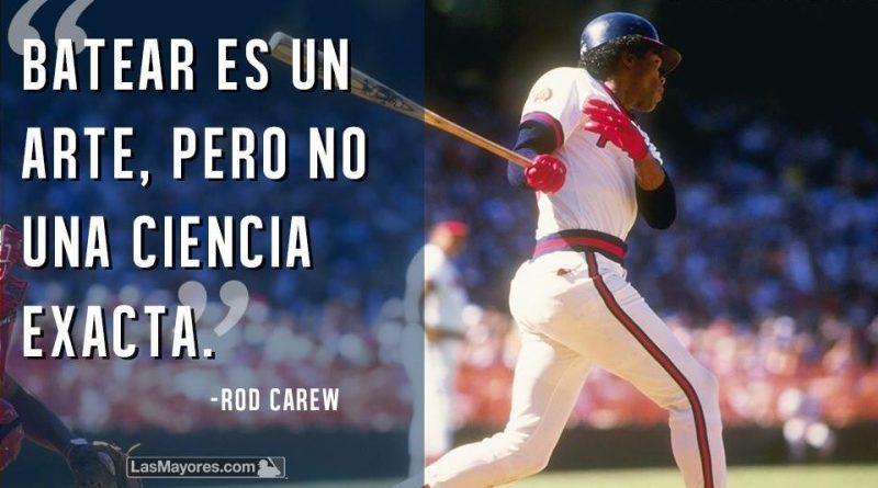 rod Carew batear es un arte, pero no una ciencia exacta