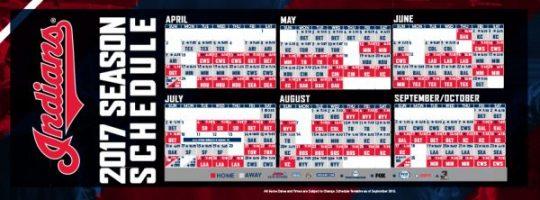 calendario de los Cleveland indians