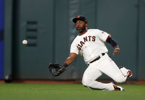 La temporada de Denard Spam no ha sido buena en defensa San Francisco Giants : Resumen 2017