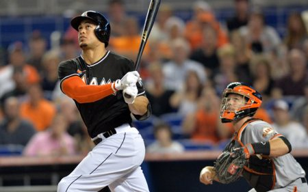 giancarlo stanton mlb awards 2017 miami marlins