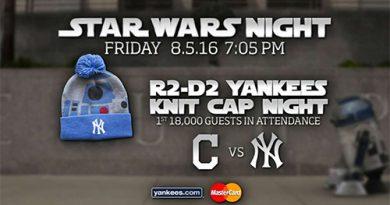 Yankee's Star Wars night Las noches temáticas del béisbol