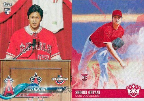 Topps Opening Day y Panini Donruss Diamond Kings Shohei Ohtani