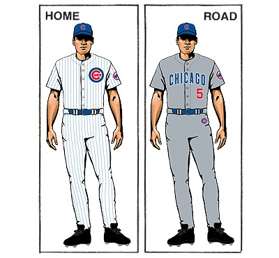 uniforme chicago cubs mlb en español beisbol
