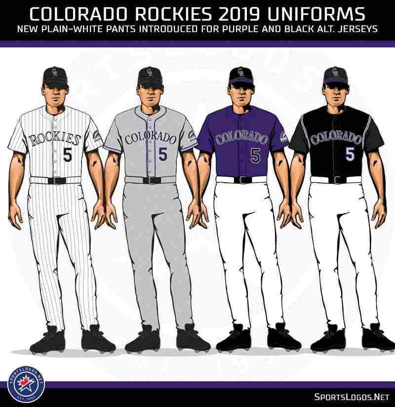 uniforme colorado rockies beisbol mlb