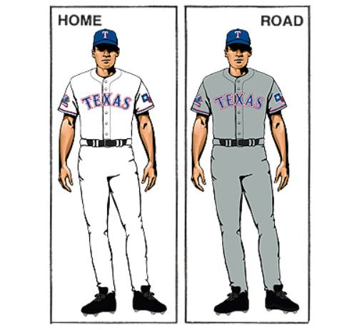 uniforme texas rangers mlb en español beisbol