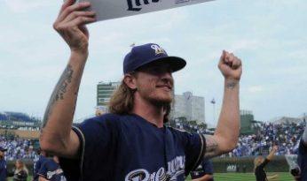 Brewers ganan la División Central Nacional Cubs MLB josh hader