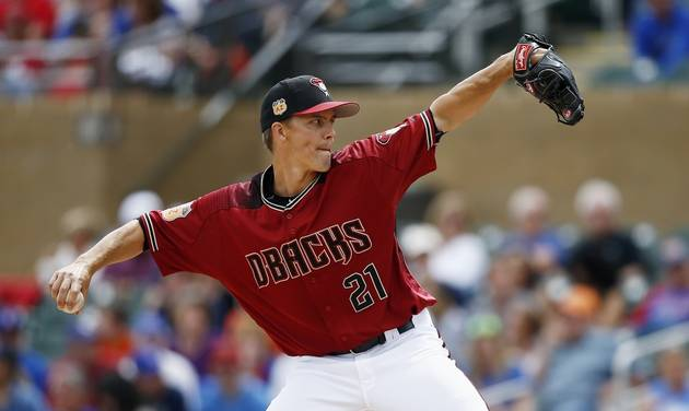 Zack Greinke Arizona Diamondbacks